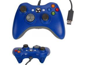 Blue USB Wired Game Pad Controller for Microsoft Xbox 360 PC Windows 7