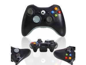 Black Wireless Remote Controller + White Gaming Receiver for Microsoft Xbox 360