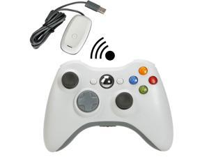 White Wireless Game Remote Controller + Gaming Receiver for Microsoft Xbox 360