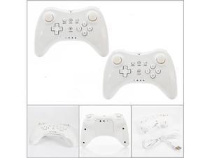 Lot2 U Pro Wireless Controller Gamepad + USB Cable for Nintendo Wii U White