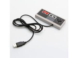 Classic Gaming USB Controller Gamepad for Nintendo NES Windows PC Black & Gray