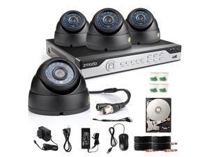 New Zmodo 8CH HDMI DVR Outdoor IR Home Surveillance Security Camera System 500GB HDD