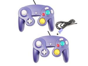 Lot2 Game Controller Pad Joystick for Nintendo Gamecube GC or Wii Indigo