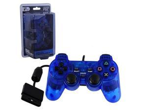 BLUE PS2 Shock Controller  Dual Vibration Gamepad