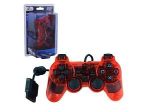 RED PS2 Shock ControllerDual Vibration Gamepad