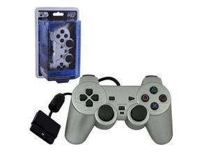 SILVER PS2 Shock Controller  Dual Vibration Gamepad