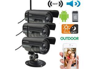 New 3×HD Home Security IP Camera Wifi Wireless System Internet Outdoor Waterproof US