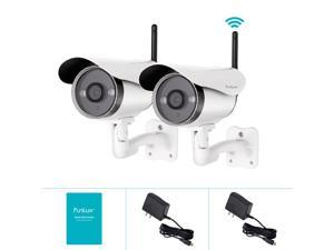 New Funlux 2 720P HD Wireless WiFi Outdoor IP Network Home Security Camera System