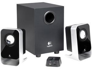 Logitech LS21 7 Watts RMS (FTC) 2.1 Stereo Speaker System - Black