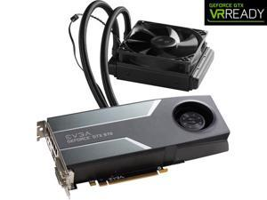 "EVGA GeForce GTX 970 4GB 04G-P4-1976-KR HYBRID GAMING, ""All in One"" No Hassle Water Cooling, Just Plug and Play Video Graphics Card"