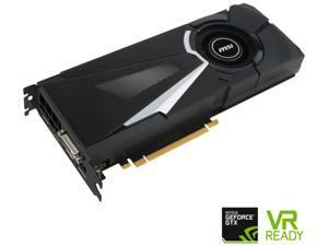 MSI GeForce GTX 1080 8GB DirectX 12 256-Bit GDDR5X PCI Express 3.0 x16 HDCP Ready SLI Support ATX GTX 1080 AERO 8G OC Video Graphics Card