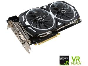 MSI GeForce GTX 1080 8GB DirectX 12 256-Bit GDDR5X PCI Express 3.0 x16 HDCP Ready SLI Support ATX GTX 1080 ARMOR 8G OC Video Graphics Card