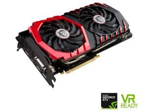 MSI GeForce GTX 1070 8GB DirectX 12 GTX 1070 GAMING X 8G 256-Bit GDDR5 DVI/HDMI/3DisplayPort PCI Express 3.0 x16 HDCP Ready SLI Support ATX Video Graphics Card