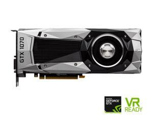 MSI GTX 1070 Founders Edition GeForce GTX 1070 Video Graphic Card - 1.51 GHz Core - 1.