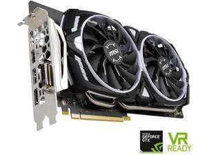 MSI GeForce GTX 1060  6GB DirectX 12 GTX 1060 ARMOR 6G OC 192-Bit GDDR5 PCI Express 3.0 x16 HDCP Ready ATX Video Graphics Card