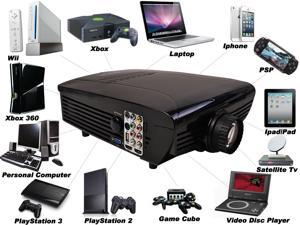 HD 1080P 5000 Lumen 2000:1 LCD LED 3D Projector Multimedia Home Theater VGA