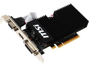 MSI GeForce GT 710 1GB DirectX 12 64-Bit DDR3 PCI Express 2.0 x 8 HDCP Ready Low Profile GT 710 1GD3H LPV1 Video Graphics Card