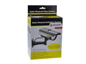 Indoor Outdoor Solar Powered Fake Dummy Security Camera with LED Light Waterproof CCTV Camera wholesale