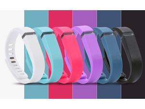 1 Piece Colorful Silicon Rubber Replacement Fitbit Flex Wristband Activity Bracelet Wrist Strap With Metal Clasp Without Tracker 7 different colors