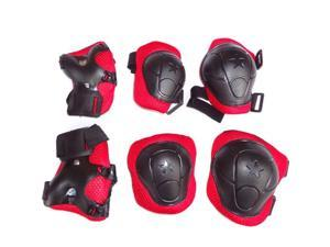 6Pcs Set Sports Cycling Roller Skating pads /Extreme Sports Protective Gear kid children's Wrist Elbow Knee Protector/ 5 colors available