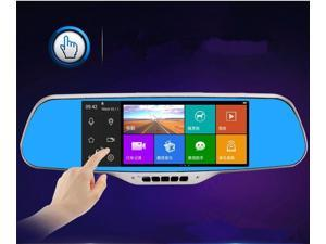 New rearview mirror intelligent navigation Android voice recorder Traveling Data Video Recorder 7 inch TFT LCD Screen