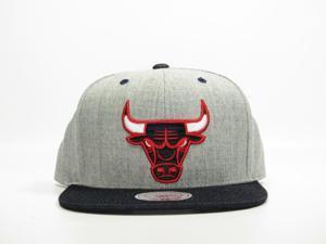 NBA Mitchell & Ness Chicago Bulls Feather Grey Big Logo Snapback
