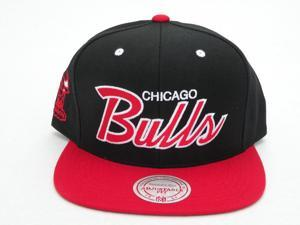NBA Mitchell & Ness Chicago Bulls Black Script Snapback