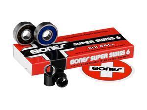 Bones SUPER SWISS 6-Ball Competition Skateboard Bearings