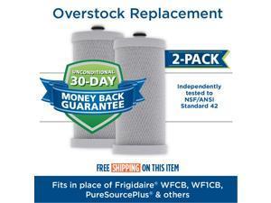 2-Pack Replacement Kenmore / Sears 25356943601 Refrigerator Water Filter - Compatible Kenmore / Sears 46-9910, 9910 Fridge Water Filter Cartridge
