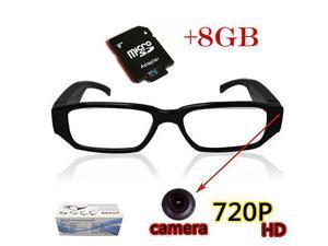 HD 720P Spy Camera Glasses Hidden Eyewear DVR Video Recorder Cam Camcorder 8gb