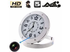 Hidden HD DVR Nanny Cam Desk Clock Pinhole Motion Detection Spy Camera Camcorder