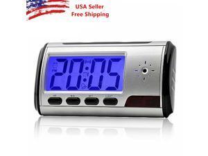 Spy Camera Alarm Clock Mini Video Recorder Hidden Nanny Cam DVR Motion Detection