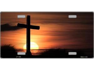 Cross Sunrise Photograph Aluminum License Plate - SB-LP1359