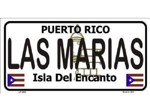 LAS MARIAS Puerto Rico State Background Aluminum License Plate - SB-LP2852