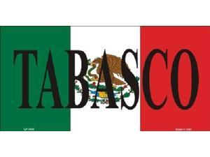 TABASCO MEXICO Background Aluminum License Plate - SB-LP3435