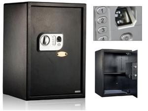 Angel USA New 2 cf. Biometric Fingerprint & Combination Lock Safe Box for Office or Home