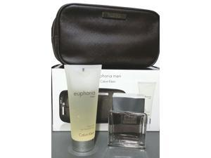 Euphoria By Calvin Klein Gift Set Box for Men EDT 1.7 oz + Body Wash 3.4 oz
