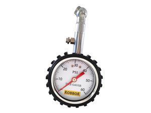 Tire Gauge 60 PSI ROBBOR Premium Tire Pressure Gauge Low Pressure Dial gauge