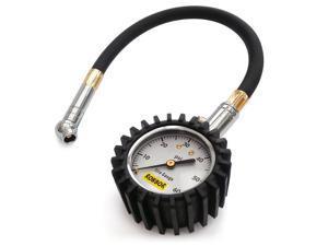 Tire Pressure Gauge Robbor Tire Gauge Air Pressure Gauge, Heavy Duty Car & Motorcycle with Long Hose(14inch) - 60 PSI