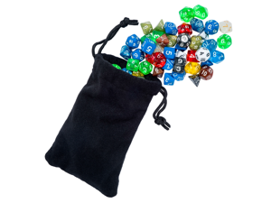 105 Polyhedral RPG Dice For Dungeons And Dragons Or Math Dice Games In 15 Complete Sets