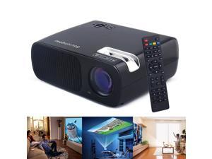 Sourcingbay BL20 2600 Lumens 2000:1 LED Cinema Theater Projector Support USB/HDMI/TV,800x480 Resolution-Black