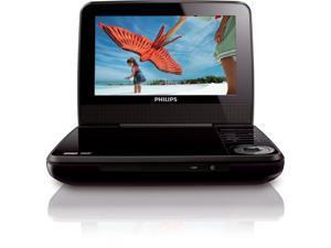 Philips PET741M/37 7-inch Portable DVD Player - Black