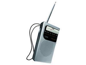 Coby CR-203-SLV Pocket Size AM/FM Radio, Silver