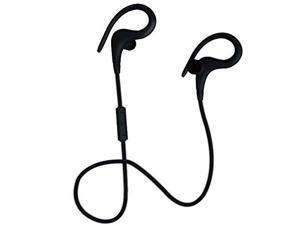 Coby Built-In Mic, Sweat Resistant, Tangle-Free Flat Cable Headphone, CEBT-401-BLK Black