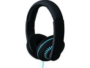 Coby CVH-811-BLU Melody Stereo Headphones with Built-In Mic, Blue