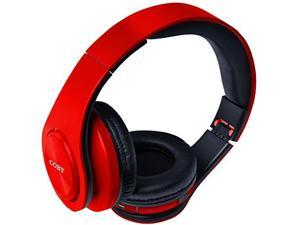 Coby CHBT-611-RED Valor Folding Bluetooth Stereo Headphones, Red