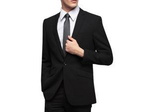 Black single-breasted business suit jacket M