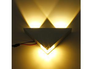 Modern High Power Aluminum 3W 200lm LED Triangle Decoration Wall Light Sconce Spot  for Bar/KTV/Hotel and Home Corridor Decoration AC85V-265V 50/60HZ