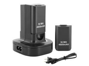 Black Dual Battery Charger Charging Station Stock Dock For Xbox 360 +2 Battery