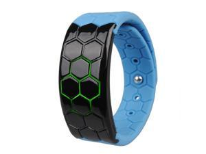 Meco Kadingle Bluetooth 4.0 Activity Tracker Pedometer Sleep Monitor Fitness Wristband - Black/Blue